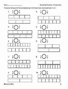 comparing fractions worksheets for grade 6 4261 comparing fractions worksheets with fraction bars and number lines fraction bars comparing