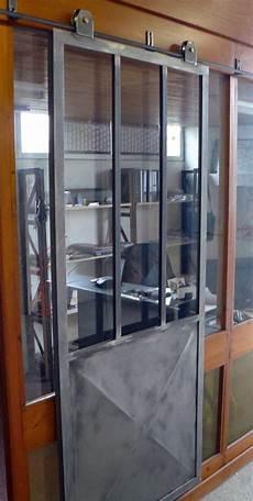 Porte Coulissante Quot Type Atelier Quot Rail 224 L Ancienne Et