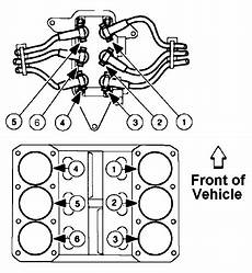 need diagram for spark plug wire installation for 2000 ford f 150 six cylinder