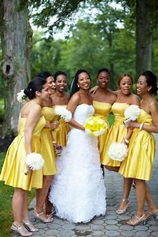 2017 elegant bridesmaid for black a line strapless yellow satin short new