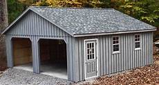 garage in 24x24 2 car 2 story garage with 7 pitch roof located in