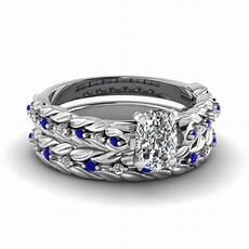 leaf design cushion cut diamond wedding ring with