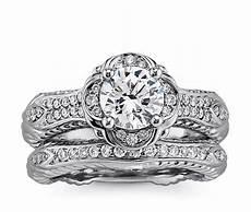 eiros quatrefoil diamond engagement and wedding ring