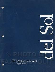service and repair manuals 1996 honda del sol spare parts catalogs 1997 honda civic del sol repair shop manual original