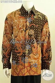baju batik premium lengan panjang size hem batik full furing nan istimewa buat lelaki gemuk