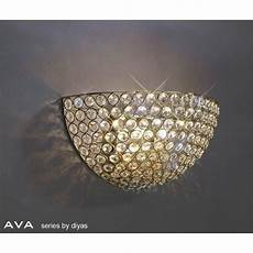 diyas lighting il30758 ava 2 light french gold crystal wall light lighting from the home