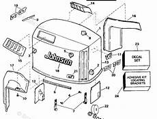 1995 johnson outboard wiring diagram johnson outboard parts by year 1995 oem parts diagram for engine cover johnson boats net