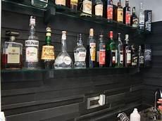 mensole bar reggimensola parete ardesia cristallo bar decoro genova