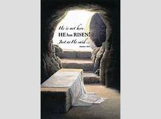 he is risen scripture
