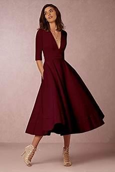 ᐅ damen v ausschnitt partykleid abendkleider