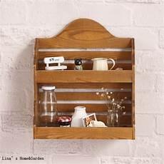 portaspezie legno 2 tier piccola cucina finitura naturale di legno