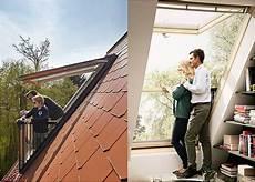 Dachfenster Mit Balkon Austritt Epos Velux Dachbalkon Illu