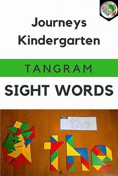 Tangram Kinder Malvorlagen Word Tangram Sight Words Journeys Kindergarten Units 1 6 Sight