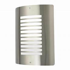 sigma 1 light outdoor slat wall lantern stainless steel