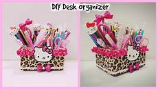 diy desk organizer cardboard hello organizer diy make up organizer youtube