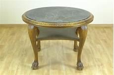 tisch mit steinplatte runder tisch mit gr 252 ner steinplatte 20 jh mit