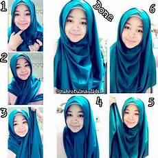 Gambar Cara Memakai Jilbab Segi Empat Modern Model