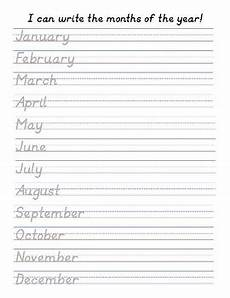 handwriting worksheets months of the year 21479 d nealian handwriting practice months of the year by the teach boutique