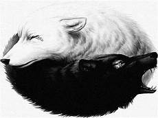 Wolf Wallpaper Wolf Yin Yang