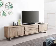tv meubel live edge 300 cm acacia chagne 4 deuren 2