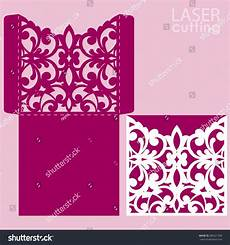 die laser cut wedding card vector stock vector 485221906