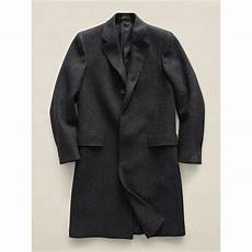 rrl wool twill top coat in charcoal gray for lyst