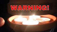 warning of flower pot candle heaters
