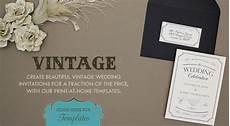 diy vintage wedding invitation template filecloudcompanion