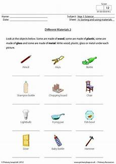 primaryleap co uk science worksheet different materials science printable worksheets
