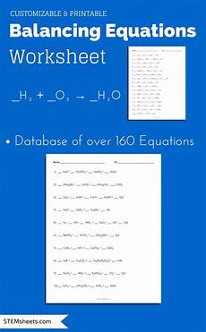 physical science balancing equations worksheet 13078 balancing chemical equations worksheet that you can customize and print science ing