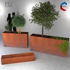 bac à fleurs bac 224 plantes et jardini 232 re corten agtrema