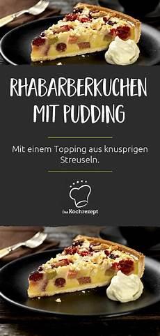 Rhabarberkuchen Mit Pudding Und Streusel - rhabarberkuchen mit pudding und streuseln rezept in 2019
