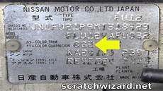 how to find your nissan paint code youtube