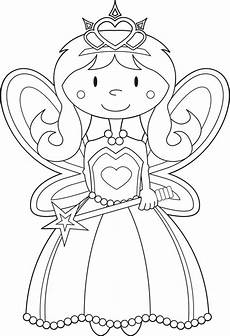 Ausmalbilder Prinzessin Fee Coloring Pages