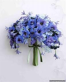 Blue Flower Arrangements For Weddings blue wedding bouquets martha stewart weddings