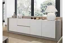 Meuble Buffet Design Blanc Mat 2m50 Trendymobilier