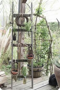 Alte Leiter Dekorieren - alte holzleiter zum aufh 228 ngen blumen und pflanzen