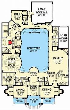 luxury with central courtyard 36186tx architectural plan 36186tx luxury with central courtyard apartment in