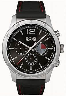 boss uhren herren schwarz hugo mens professional chronograph black