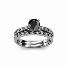 how do wedding rings work bridal ring black and white diamond four prong