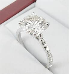 solitaire diamond engagement ring pave setting 4263