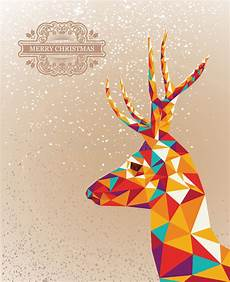 merry christmas colorful reindeer shape background royalty free stock image 33074387