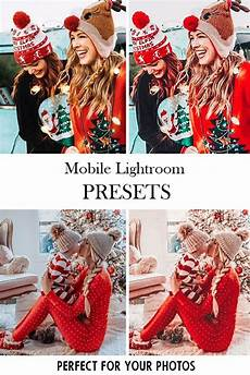 10 lightroom mobile presets merry christmas filter warm bright color for instagram best