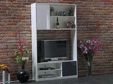 regal über fernseher wohnwand uptown hochglanz grau weiss schrankwand regal tv