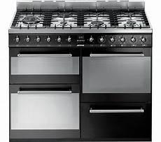 buy smeg syd4110bl 110 cm dual fuel range cooker black