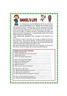 reading for beginners with lots of questions and grammar exercises 2 pages yolanda esl