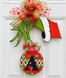 The Grinch Decorations by Grinch Door Hanger With Initial How The Grinch Stole