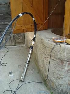 pompe a eau pour puit artesien installation d une pompe immerg 233 e dans le puits
