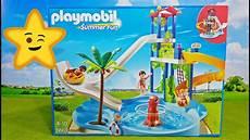 Playmobil Ausmalbilder Schwimmbad Playmobil Aquapark Schwimmbad 6669 Mit Rutschen