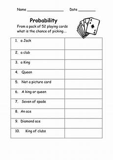 probability worksheets cards 5723 probability worksheets easy by kicha teaching resources tes